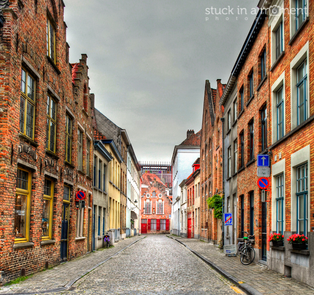 One of the beautiful streets at Brugges