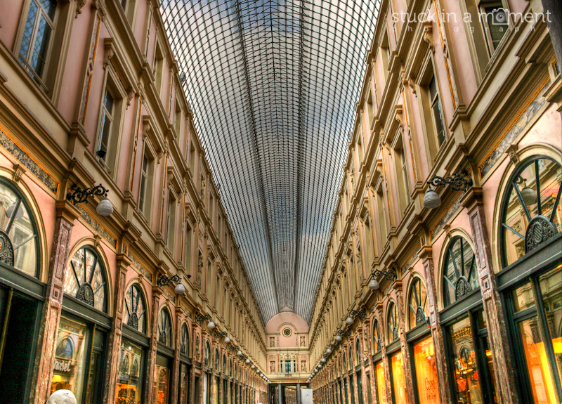 The shopping gallery at Brussels
