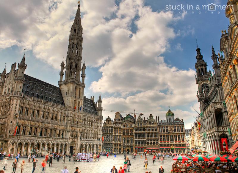 The impressive square at Brugges