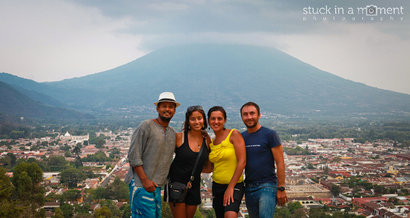 With Steven and Tania with the majestic Volcano Pacaya in the background