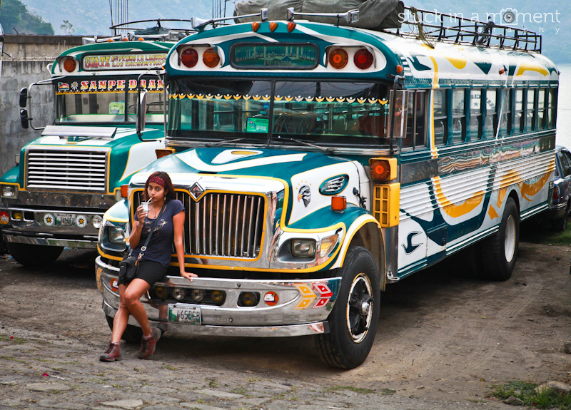 'Wm famous chicken buses of Guatemala