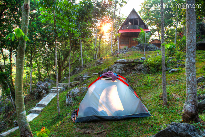 Camping at Semuc Champey. Best part of camping - you are always awake to witness the sunrise