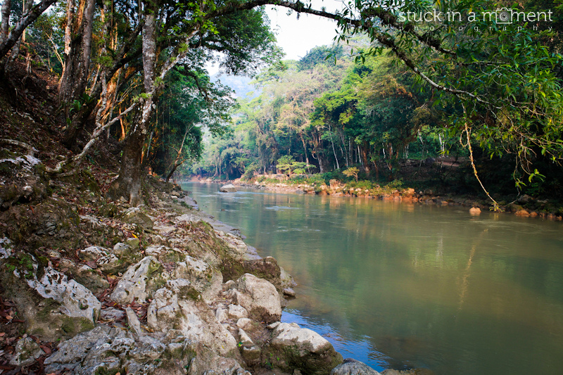 Camping by the river at Semuc Champey