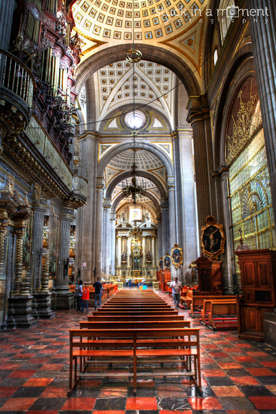 Inside the beautiful Cathedral