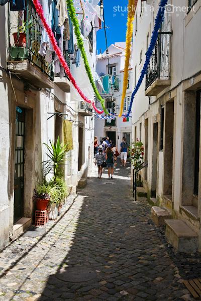 Through the narrow streets of Alfama, Lisbon