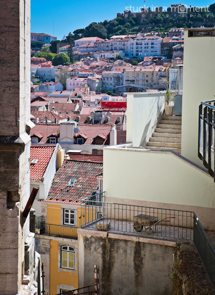 A sneak peak onto the rooftops at Lisbon