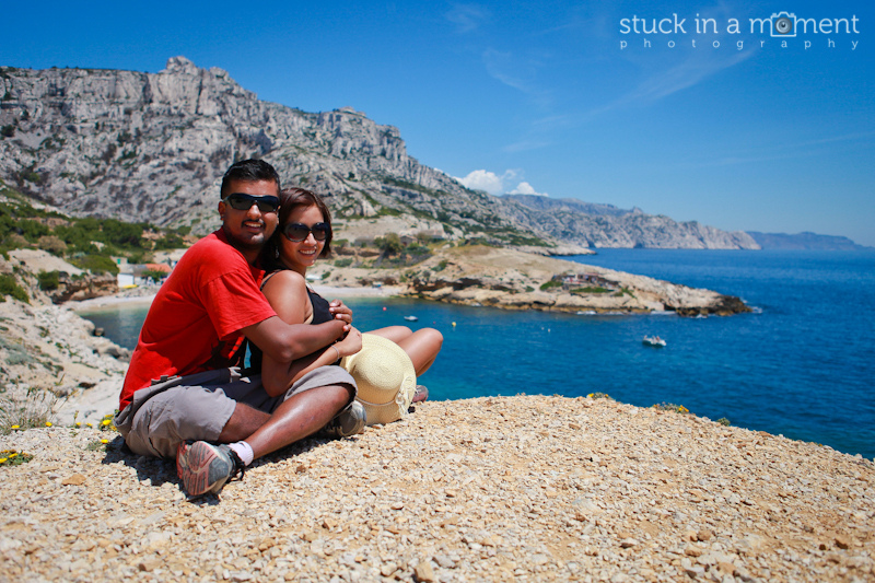 Les Calanques on a sweltering hot day