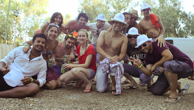 Our loco group at the campsite, Playa Mojacar