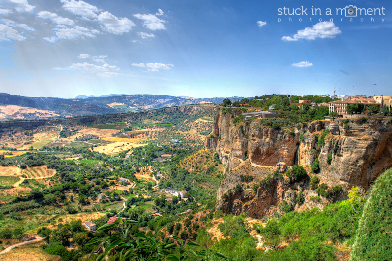 The beautiful town of Ronda - housing the best seafood in Spain