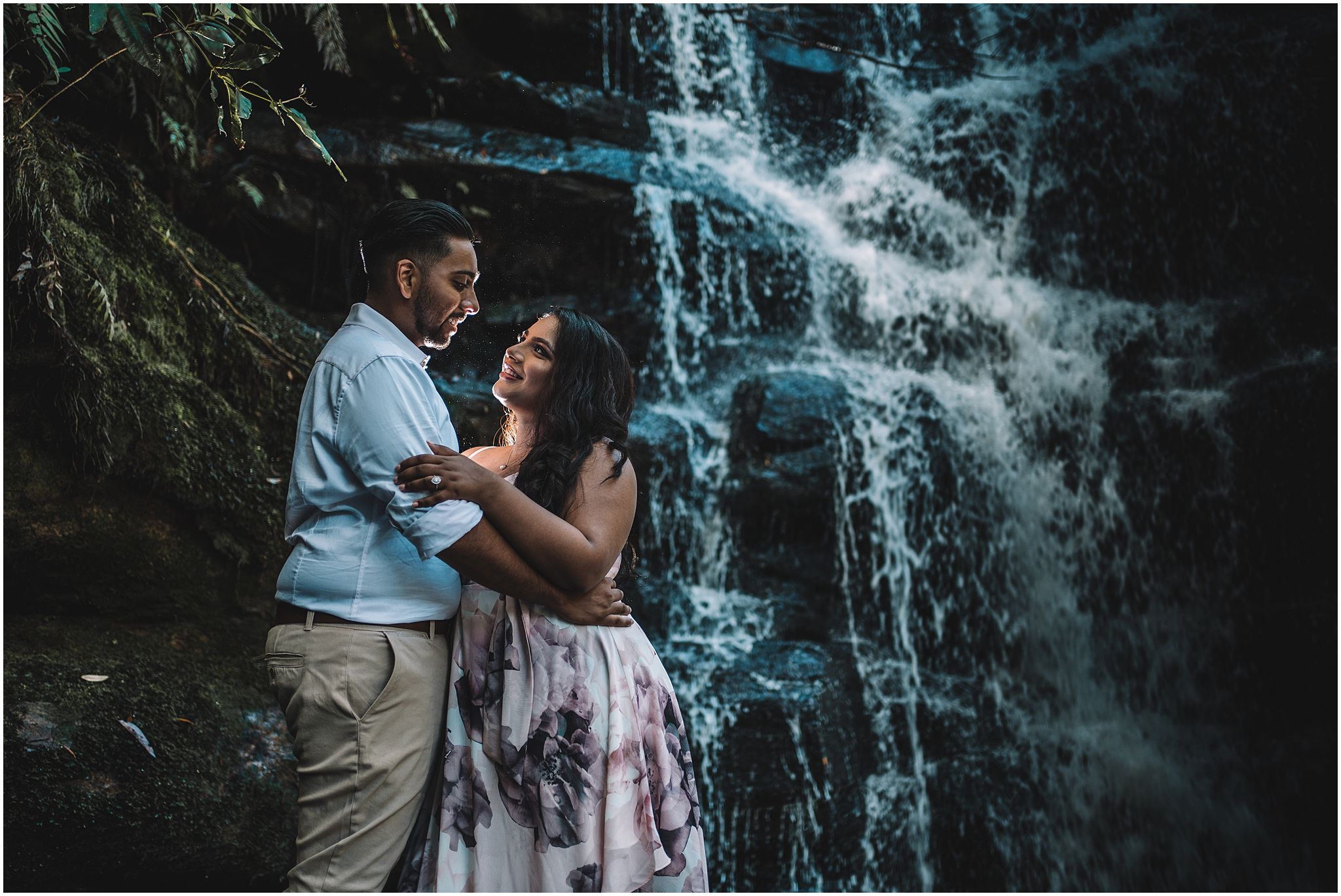 engagement photography waterfalls central coast